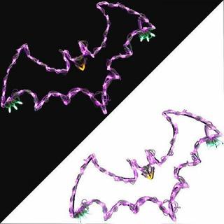 Haunted Hill Farm Flying Bats Indoor/Outdoor LED Lights, Set of 2