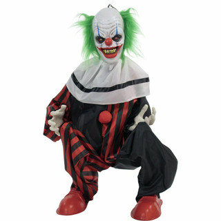 Haunted Hill Farm Life-Size Animatronic Talking Clown with Flashing Red Eyes Slice