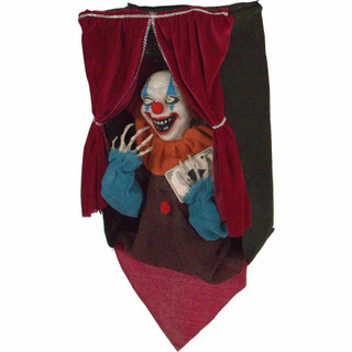 Haunted Hill Farm Animatronic Talking Clown with Flashing Red Eyes Ace