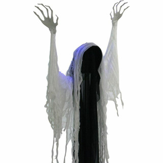 Haunted Hill Farm Animatronic Ghost with Blue Flashing Body, Poseable 69 inches