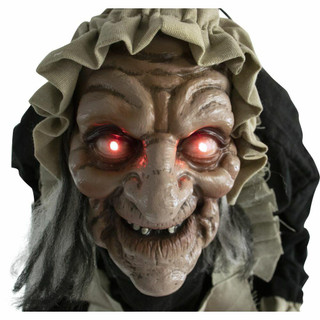 Haunted Hill Farm Life-Size Animatronic Moving Zombie Maid with Flashing Red Eyes