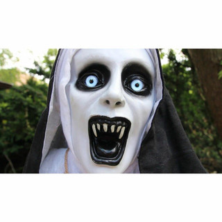 Haunted Hill Farm Life-Size Animatronic Talking Sister Dreadfull Witch with Flashing Green Eyes