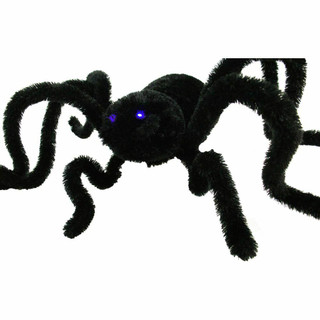 Haunted Hill Farm Animatronic Crawler Spider with Flashing Blue Eyes 36 inches