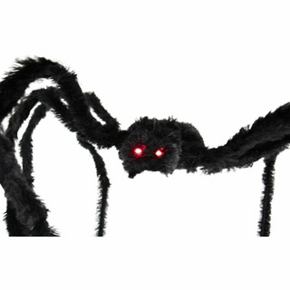 Haunted Hill Farm Animatronic Spider with Flashing Red Eyes 75 inches