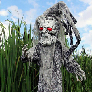 Haunted Hill Farm Life-Size Poseable Animatronic Tree Man with Red Eyes Bruce