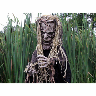 Haunted Hill Farm Life-Size Poseable Animatronic Tree Man with Light-up White Eyes Terry