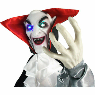 Haunted Hill Farm Life-Size Poseable Animatronic Vampire with Flashing Eyes