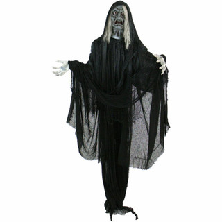 Haunted Hill Farm Life-Size Poseable Animatronic Witch, Talking Hagatha