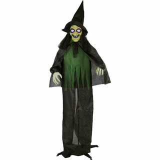 Haunted Hill Farm Life-Size Poseable Animatronic Witches with Light-up Eyes