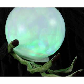 Haunted Hill Farm Life-Size Animatronic Wicked Witch with LED Crystal Ball