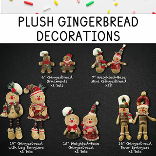 Fraser Hill Farm 152-Piece Home for the Holidays Gingerbread Christmas Ornament and Decor Set