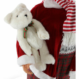 Fraser Hill Farm 58 Life-Size Dancing Mrs Claus with Teddy Bear