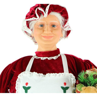 Fraser Hill Farm 58 Life-Size Dancing Mrs Claus with Apron