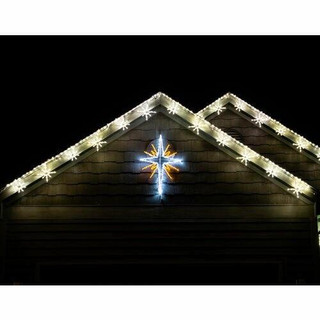 Fraser Hill Farm 4-Piece Nativity w/ Star 51x 36, Joseph 51x 34, Mary 43x 33 and Baby Jesus 37 x 32 Christmas Giant Outdoor LED Lights