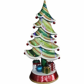 Fraser Hill Farm 5-Ft Resin Christmas Tree with LED Lights, Indoor/Covered Outdoor