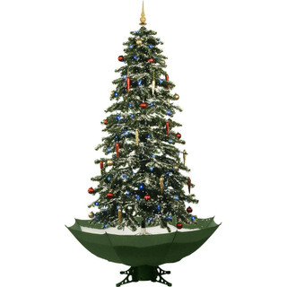 Fraser Hill Farm Let It Snow Series 67 Snowing Musical Christmas Tree with Green Base and Snow Function