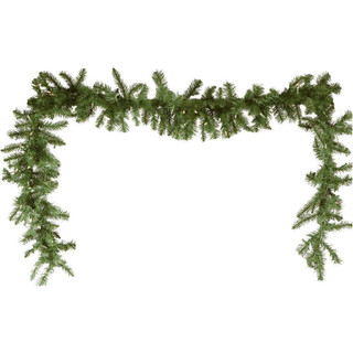 Fraser Hill Farm 9-Ft Royal Pine Artificial Holiday Garland with Battery-Operated Warm LED String Lights
