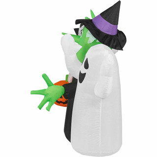 Haunted Hill Farm 10-Ft Halloween Inflatable Boo Sign with Lights