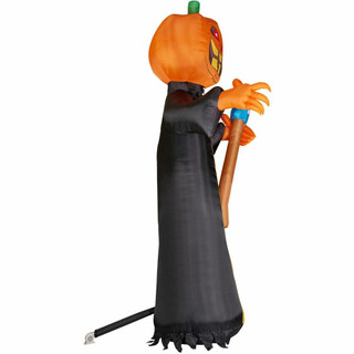 Haunted Hill Farm 20-Ft Halloween Inflatable Jack OLantern Reaper with Lights
