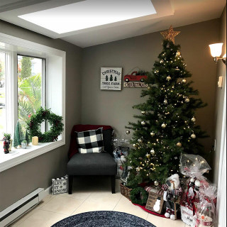 Fraser Hill Farm Southern Peace Pine Christmas Tree, Various Sizes and Lighting Options