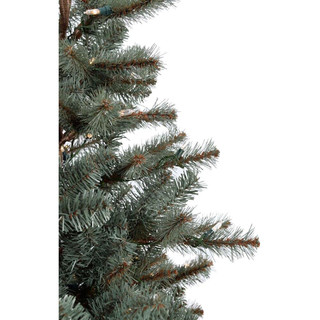 Fraser Hill Farm Heritage Pine Christmas Tree with Burlap Base, Various Sizes and Lighting Options