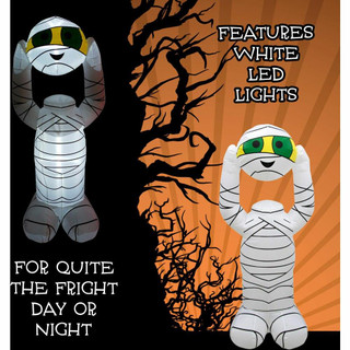 Haunted Hill Farm 6.5-ft Halloween Inflatable Headless Mummy with Arm Motion and Lights