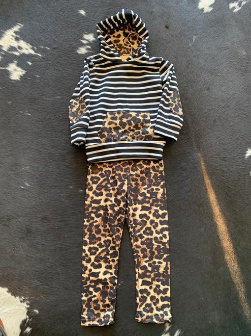 Girl's Leopard Leggings