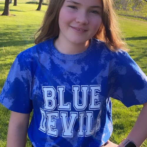 Kid's Bleached Blue Devils Tee