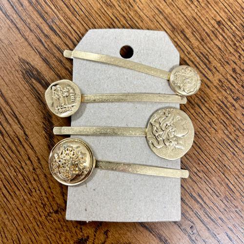 Gold Victoria Hair Pins