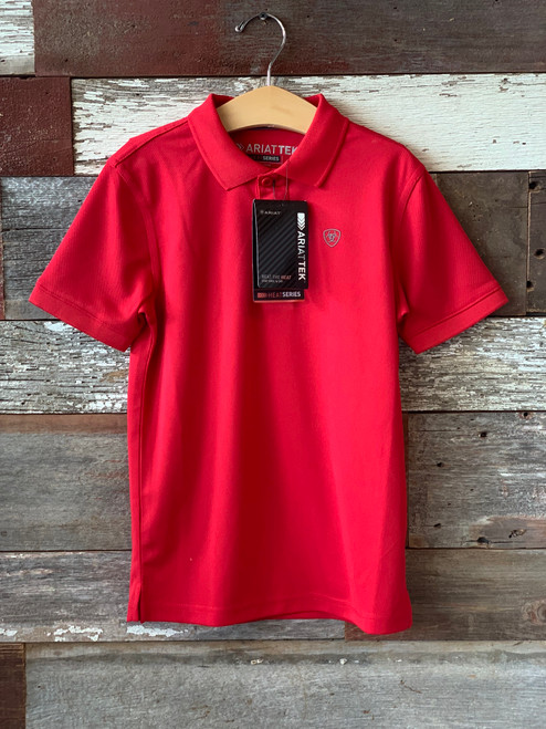 Ariat Boy's Red Polo