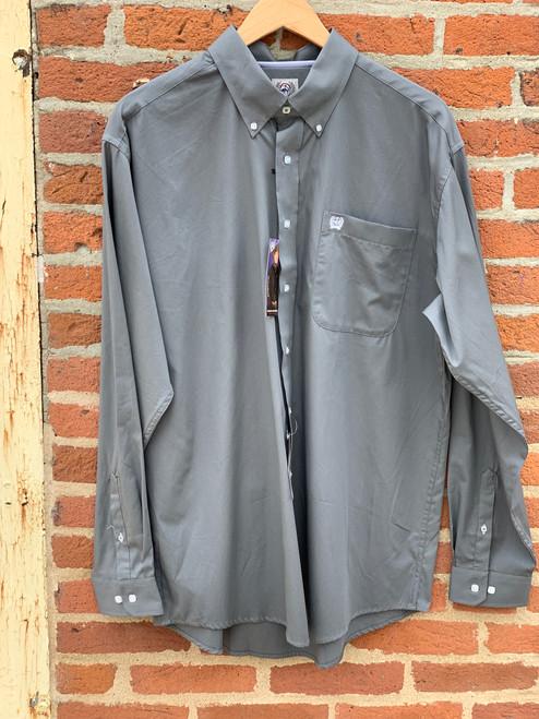 Cinch Men's LS Solid Gray