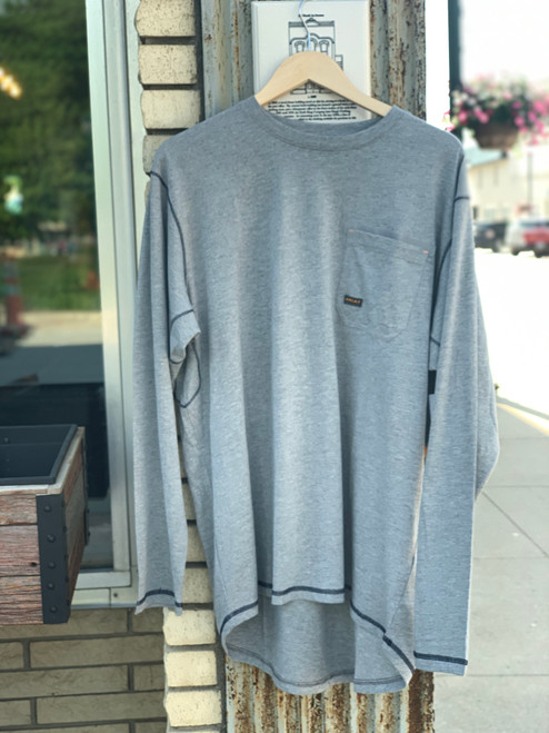 Ariat Men's Gray LS Rebar Tee