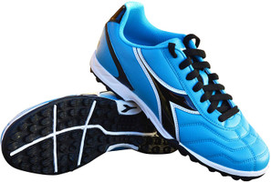 Diadora Women's Capitano Turf Soccer Shoe - Columbia Blue | Black - Virtual Soccer Exclusive