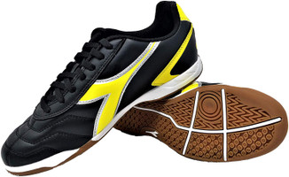 Diadora Men's Capitano Indoor Soccer Shoe - Black | Yellow
