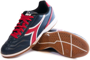 Diadora Men's Capitano Indoor Soccer Shoe - Navy | Red