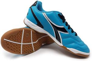 Diadora Women's Capitano Indoor Soccer Shoe - Columbia Blue | Black