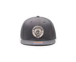 Fan Ink Manchester City Platinum Snapback Hat - Heather Black