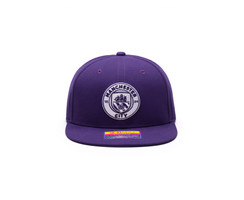 Fan Ink Manchester City Retro Color Collection Snapback Hat/Cap - Purple
