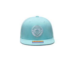 Fan Ink Manchester City Retro Color Collection Snapback Hat/Cap - Blue Tint