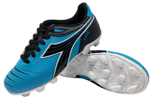 Diadora Kids Cattura MD JR Soccer Cleats - Columbia Blue | Black - Virtual Soccer Exclusive