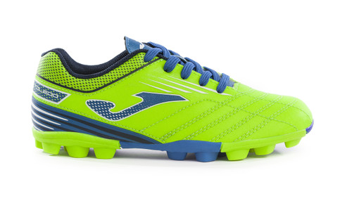 Joma Kids Toledo Junior 24 Soccer Cleat - Fluoro Green - Virtual Soccer Exclusive