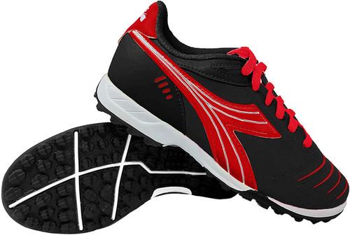 Diadora Cattura Junior Turf Soccer Shoe - Black | Red