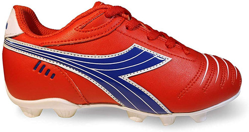Diadora Kids Cattura MD JR Soccer Cleats - Red | Royal | White - Virtual Soccer Exclusive