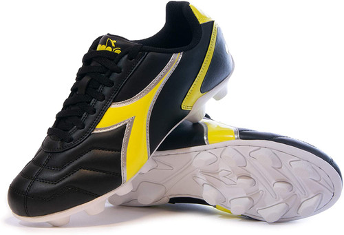 Diadora Men's Capitano Molded VS Outdoor Soccer Cleat - Black | Yellow