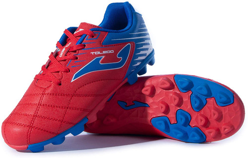 Joma Kids Toledo Junior 24 Soccer Cleat - Red   Royal