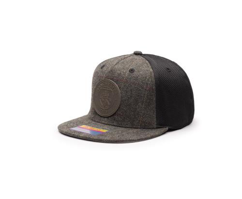 Manchester City Sherlock Snapback Hat - Grey/Black by Fan Ink / Fi Collection
