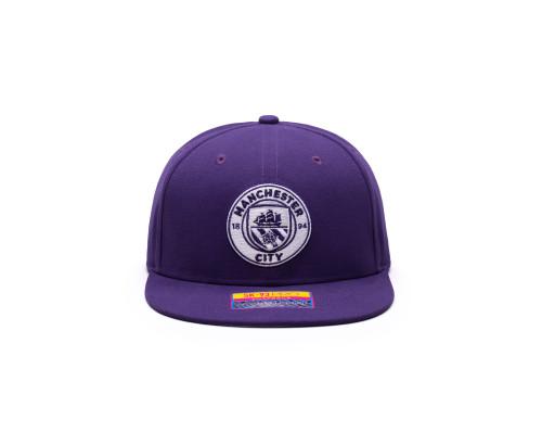 Fan Ink Manchester City Retro Color Collection Snapback Hat/Cap - Purple