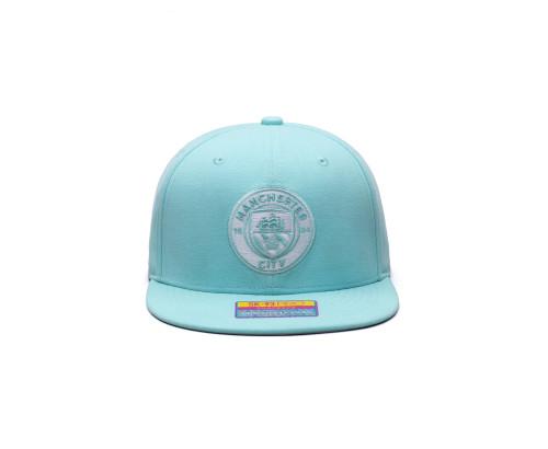 Fan Ink Manchester City Retro Color Collection Snapback Hat/Cap - Blue Tint