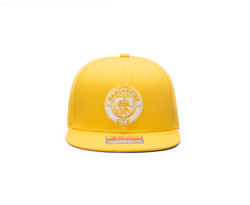 Fan Ink Manchester City Retro Color Collection Snapback Hat/Cap - Cyber Yellow