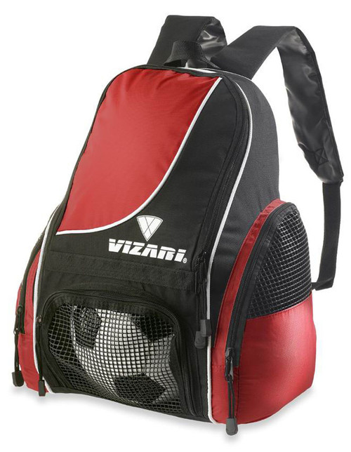 Vizari Solano Soccer Sport Backpack - Red